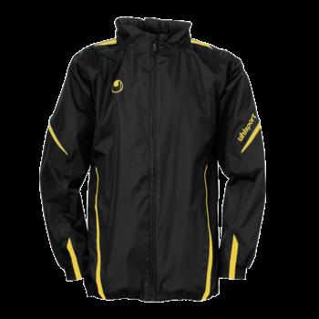 coupe vent uhlsport team noir jaune equipement de gardien de but textile pluie sports. Black Bedroom Furniture Sets. Home Design Ideas