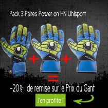 Pack 3 Gants Uhlsport Power on