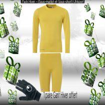 Pack Sous-vêtements Junior Uhlsport Jaune
