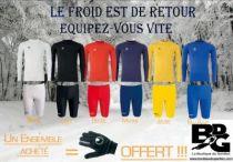 Pack Hiver - (Sous-maillot et Sous-short) Uhlsport = 1 paire Gant Hiver offert sur votre Boutique dediée aux gardiens de but de foot