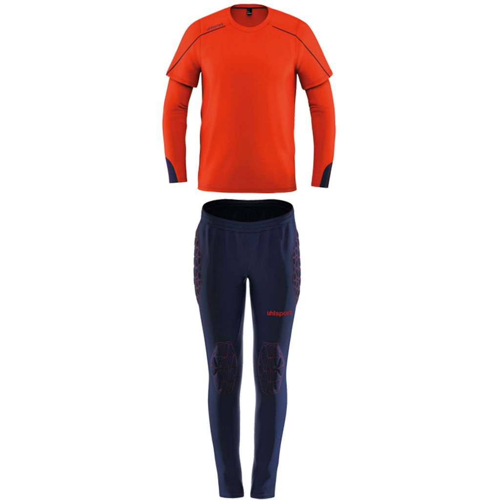 Kit Gardien Junior Uhlsport Stream 22 Rouge Fluo