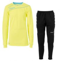 Kit gardien junior Uhlsport Stream Jaune Fluo/Iceblue 2015 vendu sur la boutique du gardien BDG