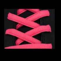Lacets Sport Ovale Neon Rose