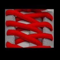 Lacets Sport Ovale Neon Rouge