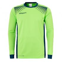 Maillot de gardien Junior Uhlsport Goal ML Vert Flash Pétrole