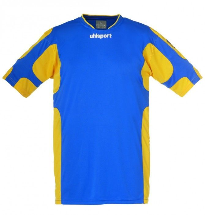 Maillot Gardien Junior Uhlsport Cup Bleu Azur/Jaune Mais MC 2012