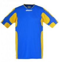 Maillot Gardien Junior Uhlsport Cup Bleu Azur/Jaune Mais MC 2012