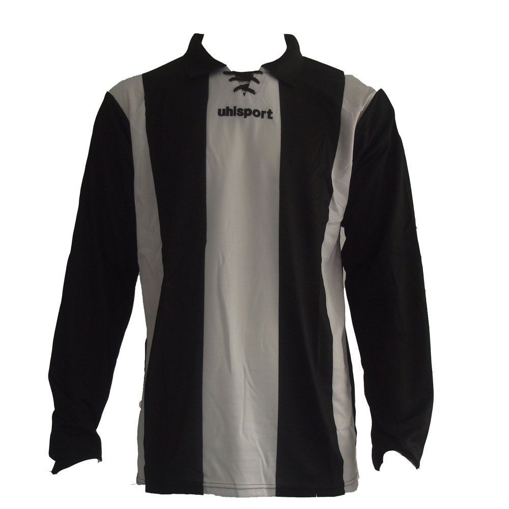 Maillot Gardien Junior Uhlsport Stripe Blanc/Noir ML 2012
