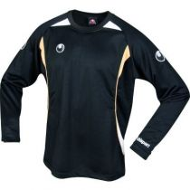 Maillot Uhlsport Infinity Noir/Blanc/Or Manches Longues