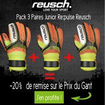 Pack 3 Paires Gants Junior Reusch