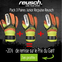 Pack 3 Paires Gants Junior Reusch