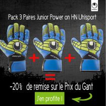 Pack 3 Paires Junior Uhlsport Power on