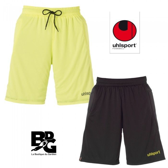 Short de gardien Junior Uhlsport Reversible Jaune/Noir 2012