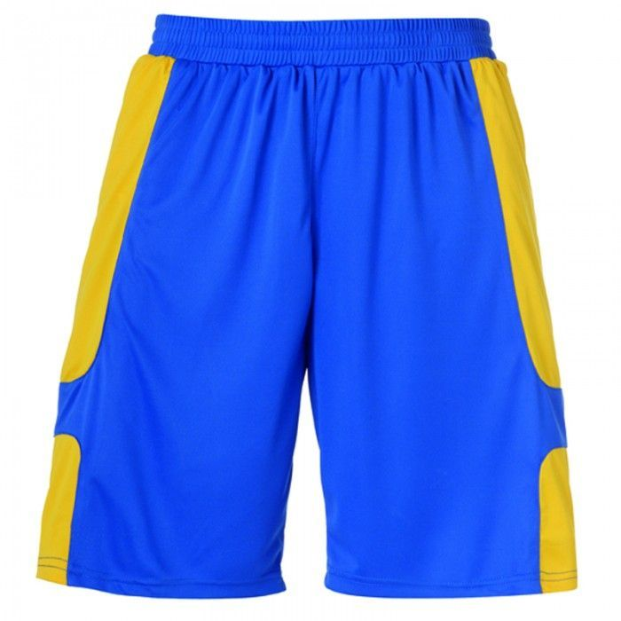 Short Junior Uhlsport Cup Bleu Azur/Jaune Mais 2012