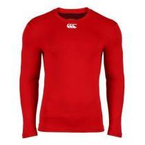 Sous-Vêtement Canterbury Cold Long Sleeve Top Rouge